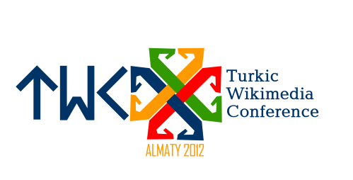 "Turkic Wikimedia Conference 2012 logo by Batyr Hamzauly. The design of the ""TWC"" letters is based on Old Turkic runes. licensed under CC-BY-SA 3.0."