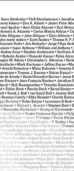 A long list of names, including Amir Elisha Aharoni