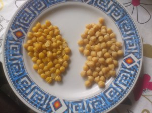 Peeled vs unpeeled chickpeas